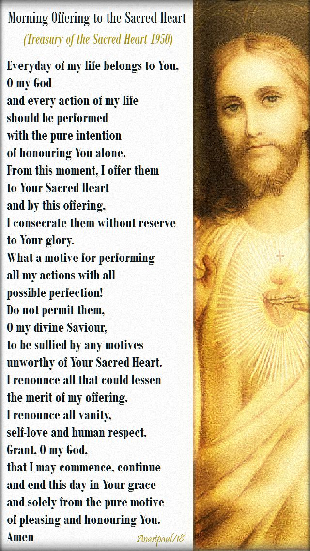 morning offering to the sac heart - treasury of the sac heart 1950 - 13 nov 2018