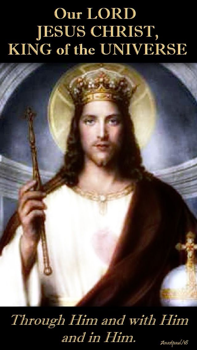 our lord jesus christ king of the universe - 25 nov 2018.no 2