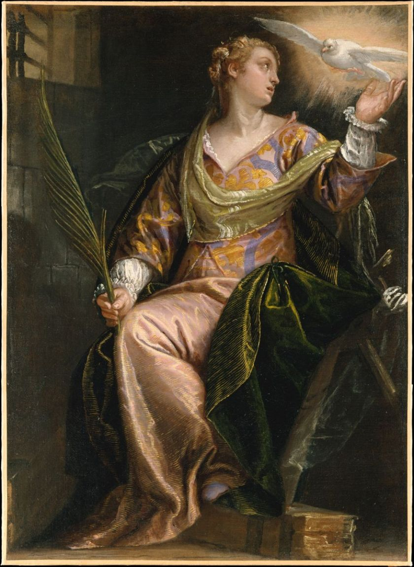 paolo veronese st catherine of alexandria in prison 1528-1588