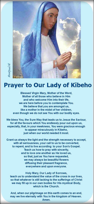 pray to our lady of kibeho - 28 nov 2018