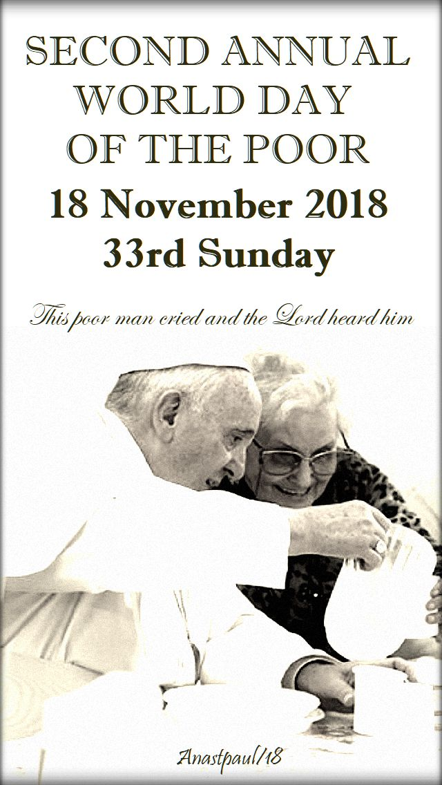 second annual world day of the poor - 18 nov 2018