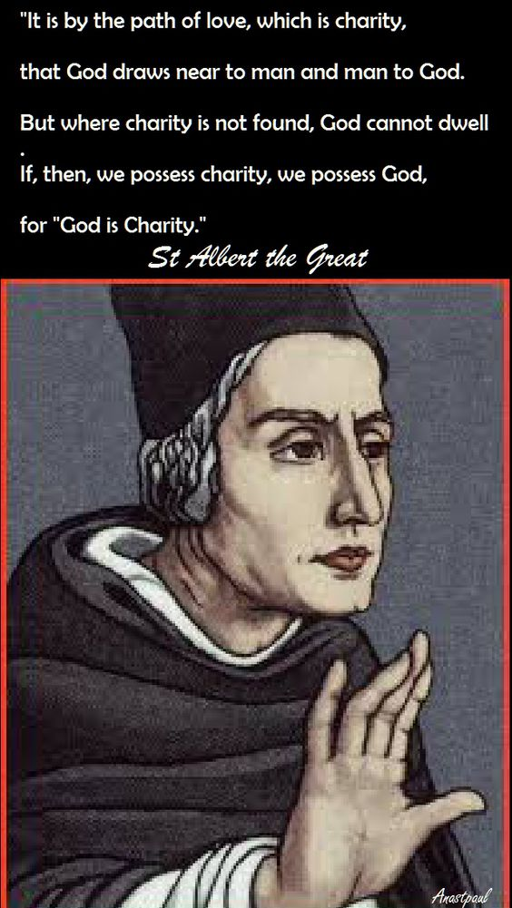 st albert the great - it is by the path of love - 15 nov 2016