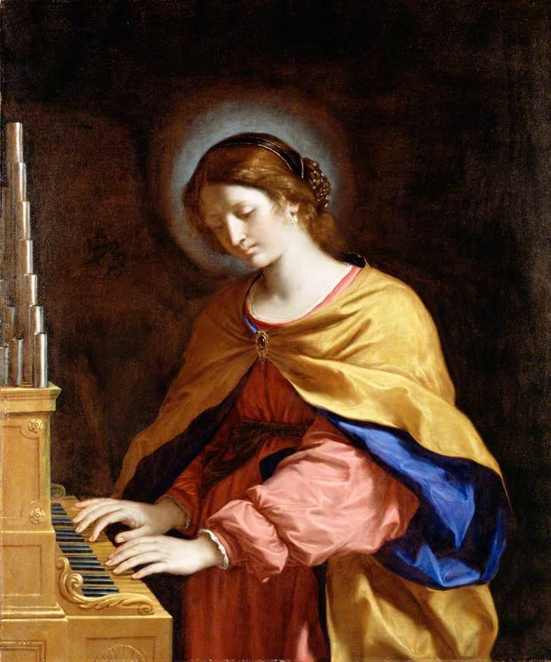 Guercino, 1591-1666; Saint Cecilia