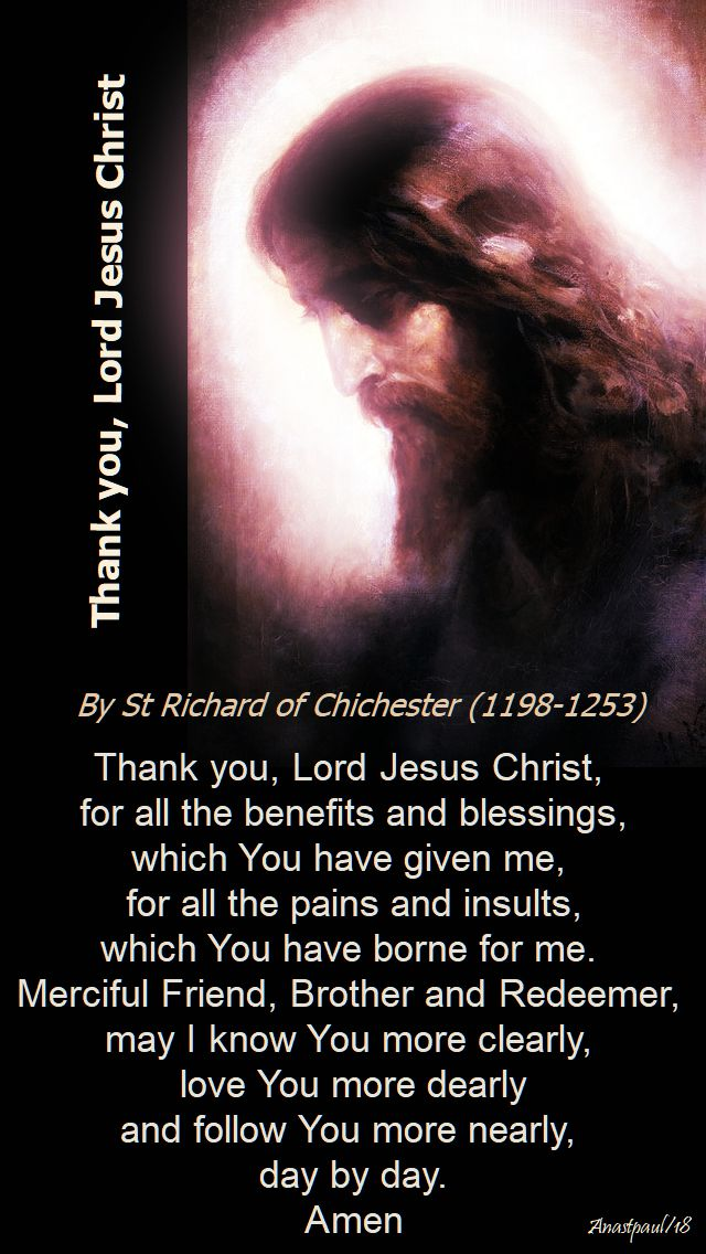 thank you lord jesus christ - st richard of chichester - 14 nov 2018