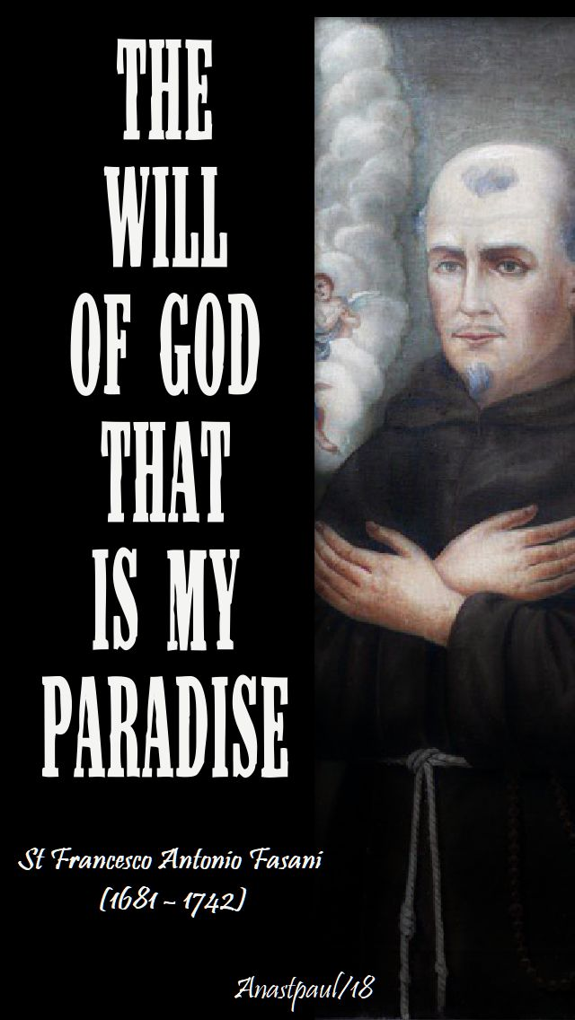 the will of god that is my paradise st francesco antonio fasani - no 2 - 29nov2018
