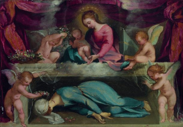 Ventura Salimbeni, Virgin and child with the martyred Saint Cecilia