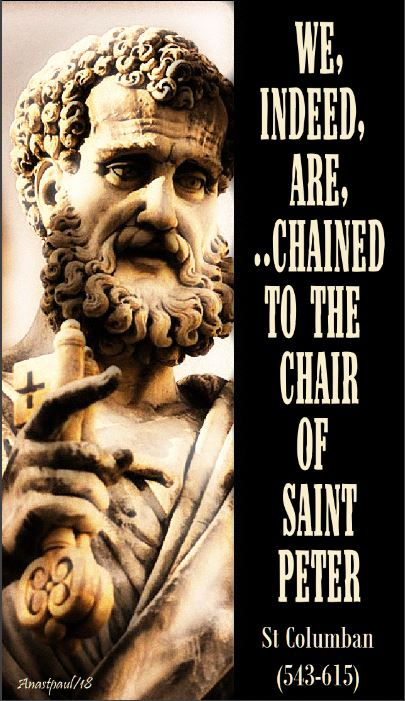 we indeed are chained to the chair of st peter - 23 nov 2018 - SNIP SNIP use snip ONLY