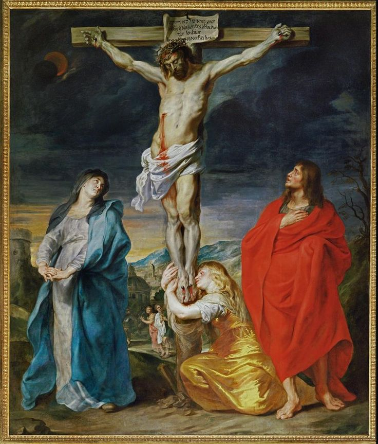 Mary, John & Mary of Magdala at the cross-antoon-van-dyck-follow-jesus