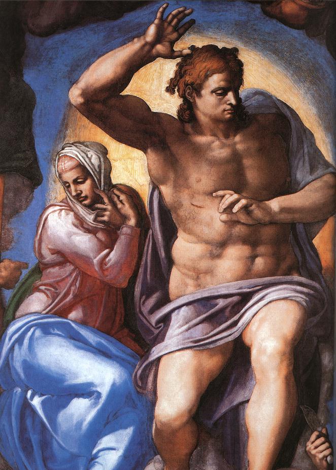 Michelangelo,_JESUS - Giudizio_Universale_03
