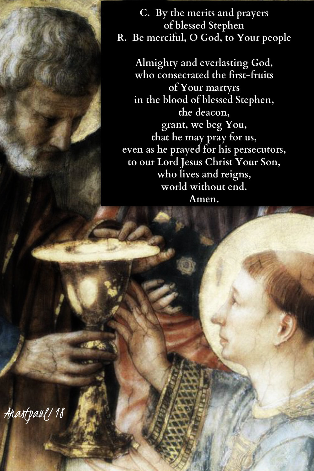 Prayer for the feast of st stephen 26 dec 2018