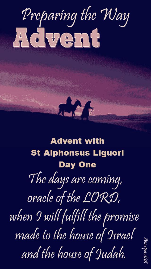 advent - preparing the way - day one - 2 Dec 2018