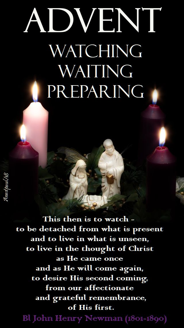 advent-watching waiting preparing - 2 dec 2018-bl john henry newman watching sermon 22