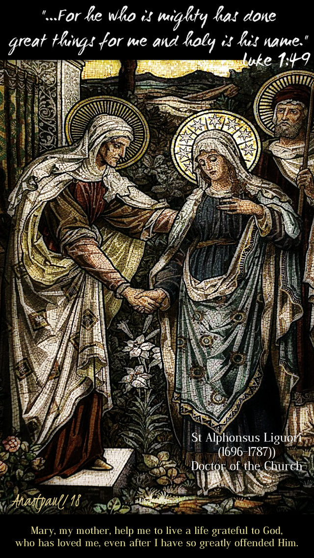 advent with st alphonsus - luke 1 49 for he who is mighty 22 dec 2018