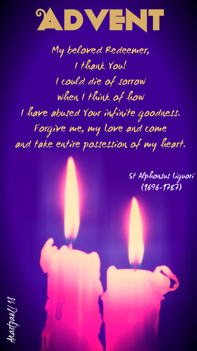 advent with st alphonsus - my beloved redeemer - 13dec 2018