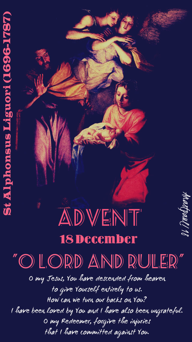advent with st alphonsus - o my jesus 18dec 2018