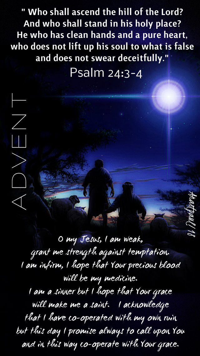 advent with st alphonsus - psalm 24 3-4 who shall ascend - 20dec2018