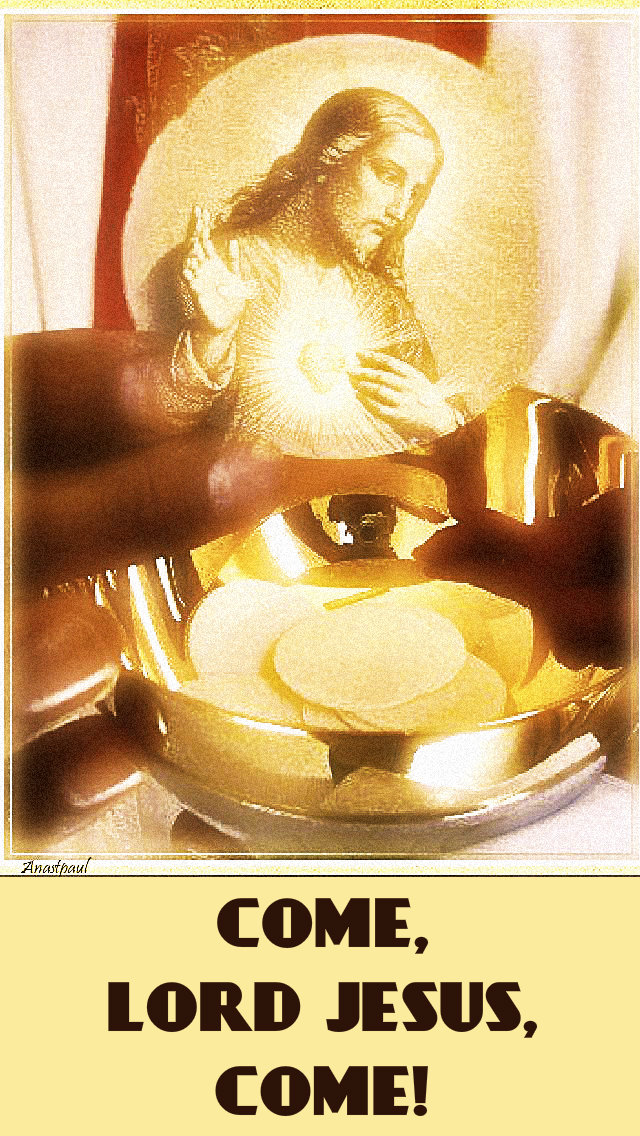 come-lord-jesus-come-23 DEC 2018 HOLY COMMUNION AND ADVENT