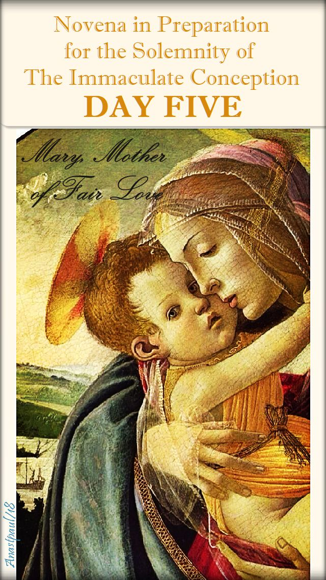 DAY FIVE - IMM CONCEPTION NOVENA - MARY MOTHER OF FAIR LOVE