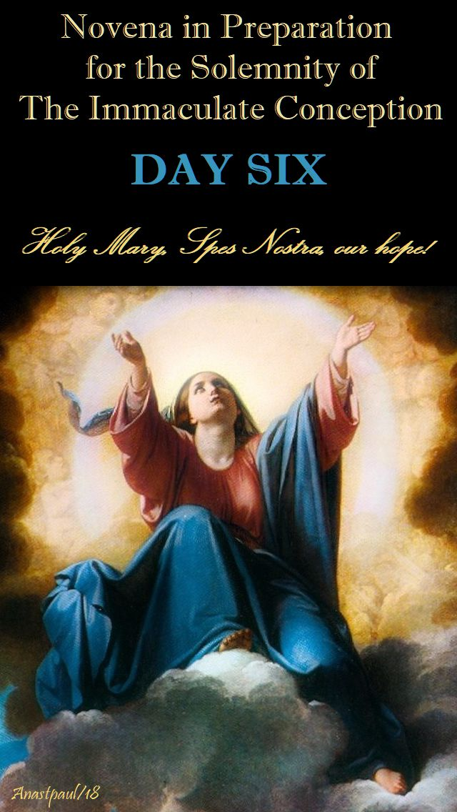 DAY SIX - IMM CONCEPTION NOVENA - HOLY MARY SPES NOSTRA OUR HOPE