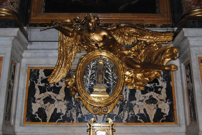 incorrupt arm of francis xavier at gesu At Rome's Church of the Gesu' (brought to Rome in 1614).