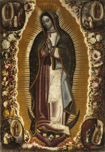 Manuel de Arellano, Virgin of Guadalupe, 1691, oil on canvas