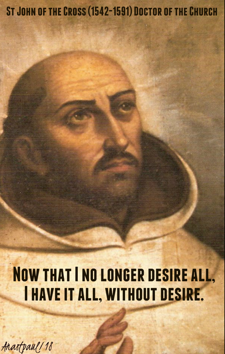 now that i no longer st john of the cross 14dec2018