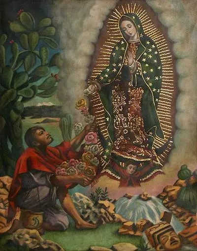 our lady of guadalupe with st juan diego