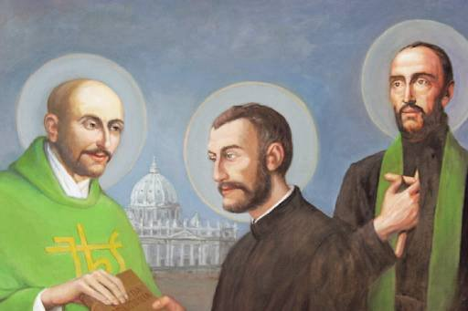 st ignatius, st francis and st peter - First Companions