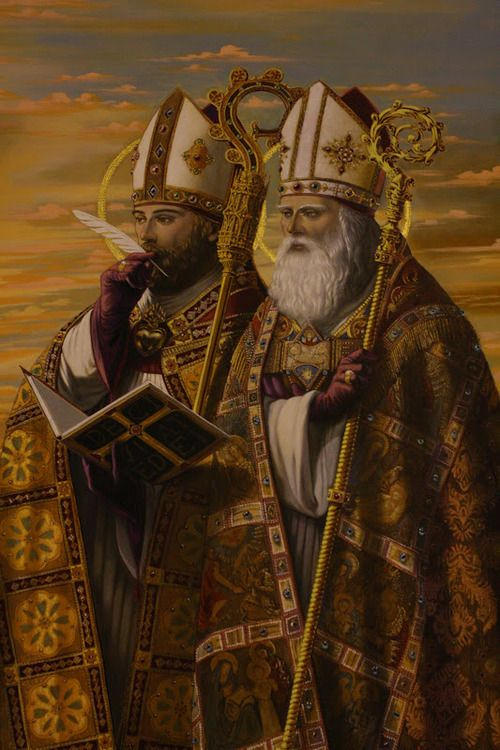 STS AUGUSTINE AND AMBROSE
