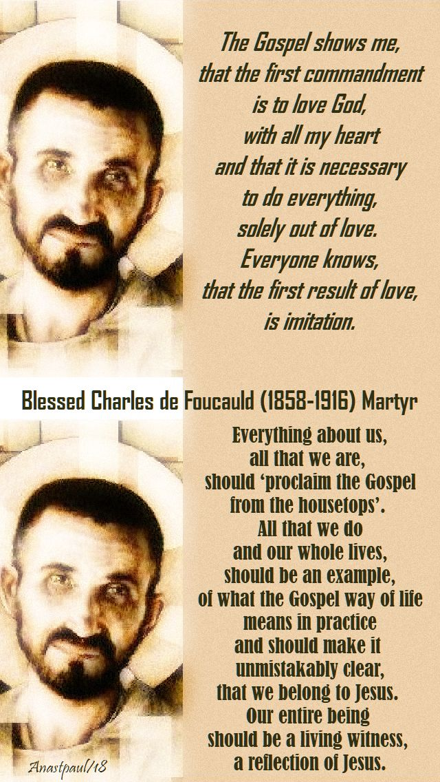 the gospel shows me - everything about us-bl charles de foucauld - 1 dec 2018