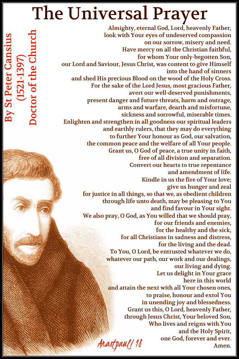 the universal prayer by st peter canisius 21dec2018 no 4