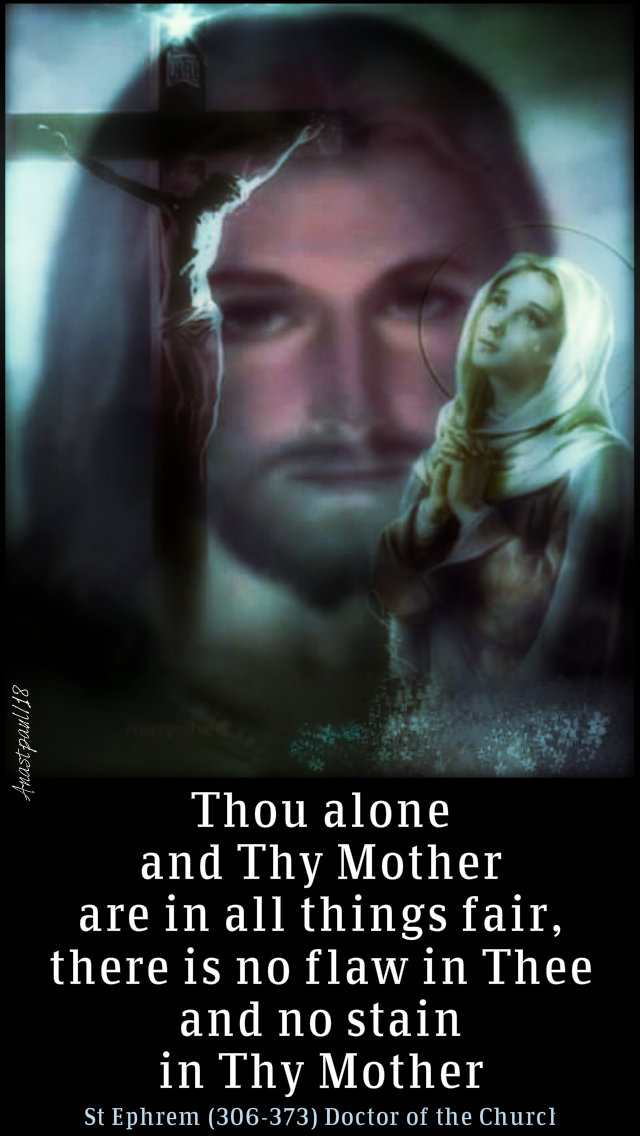 thou alone and thou mother - st ephrem 8dec2018