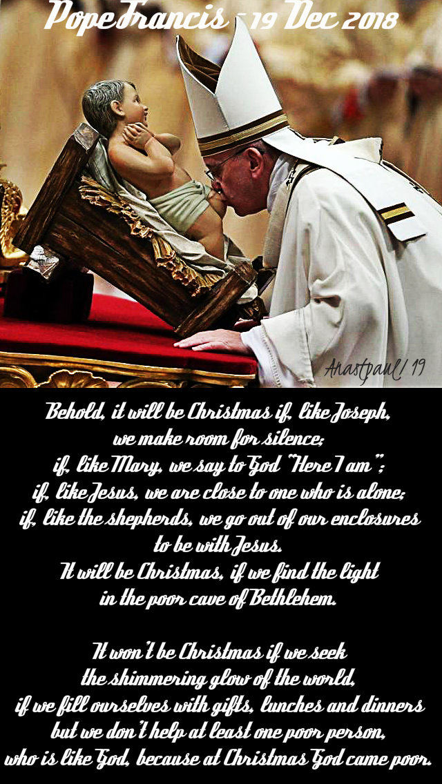 behold it will be christmas - pope francis given 19 dec 2018 gen aud - 8 jan 2019