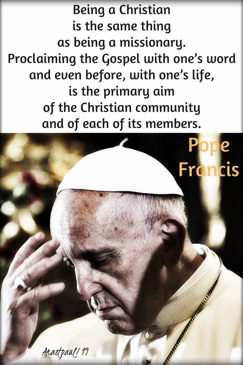 being a christian is the same thing - pope francis - 10 jan 2019