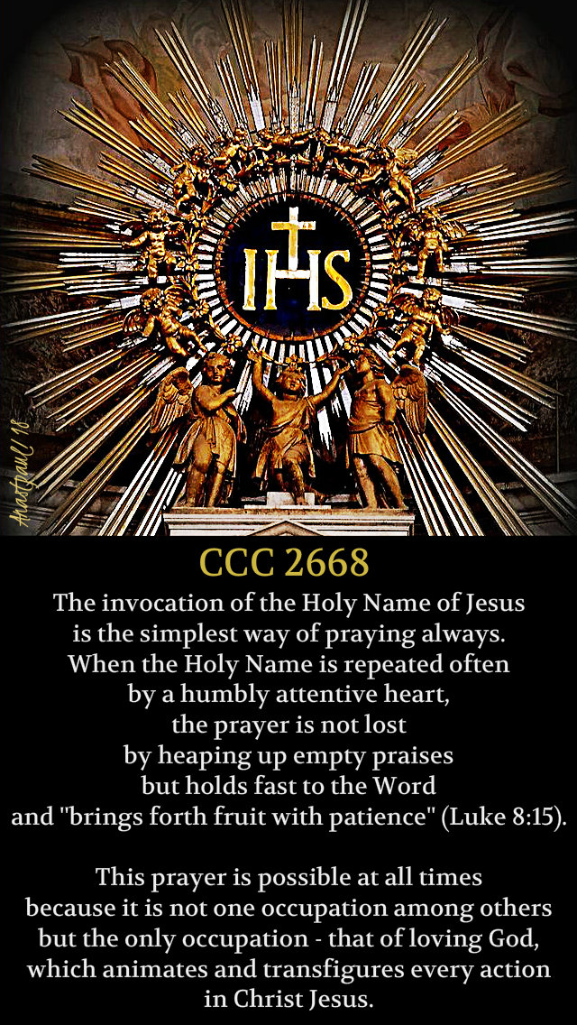 ccc2668 the invocation of the holy name - 3 jan 2019