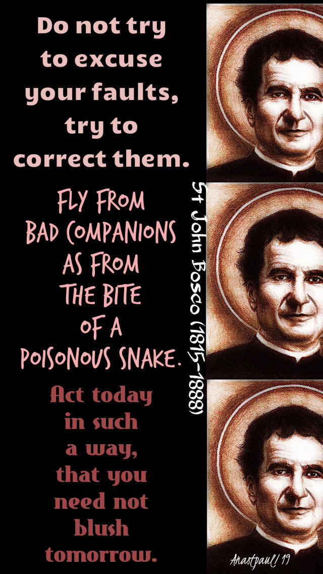 do not try to excuse, fly from bad, act in such a way - st john bosco 31 jan 2019.jpg