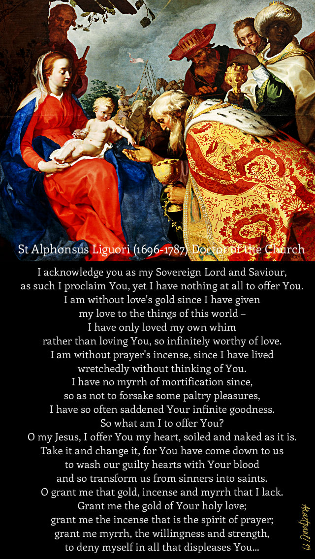 i acknowledge you as my lord and saviour - st alphonsus 6 jan 2019