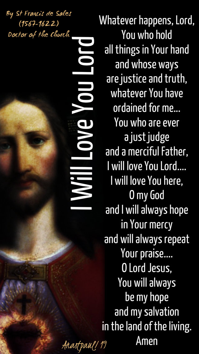 i will love you lord no 2 - st francis de sales 24 jan 2019.jpg