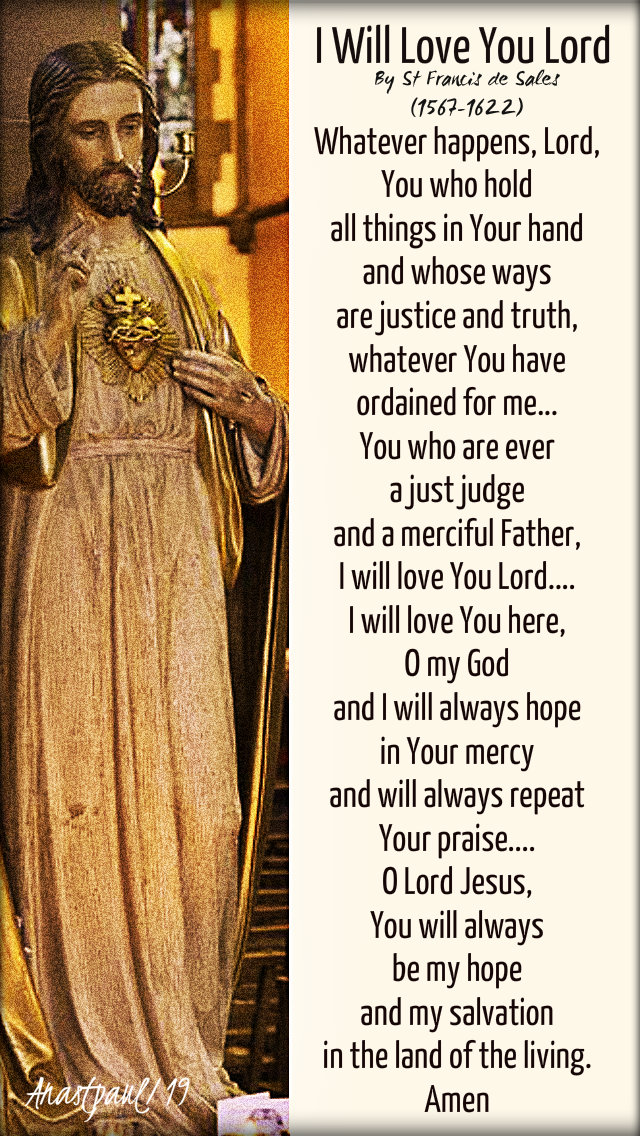i will love you lord - st francis de sales - 24 jan 2019.jpg