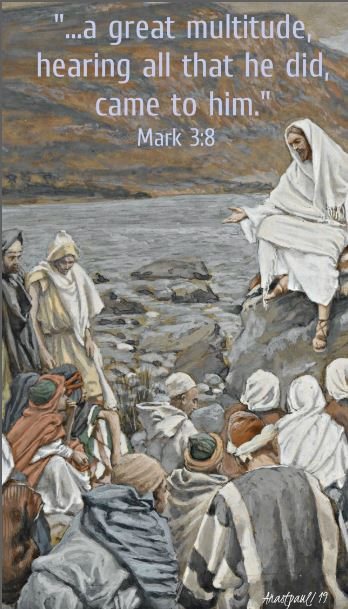 mark 3 8 - a great multitude hearing all that he did came to him.JPG