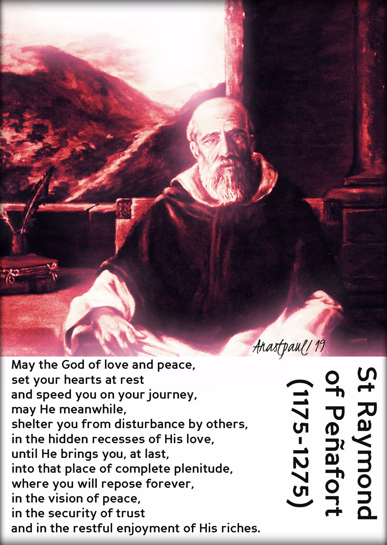 may the god of love and peace - st raymond of penafort - 7 jan 2019.jpg