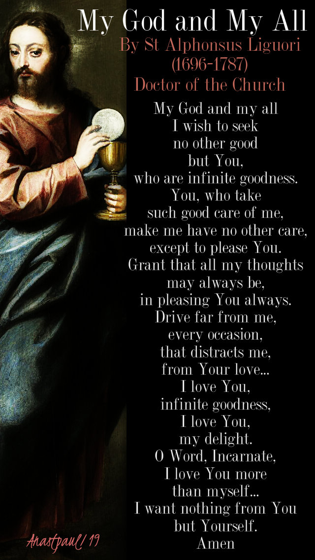 my god and my all - st alphonsus liguori - 20 jan 2019.jpg
