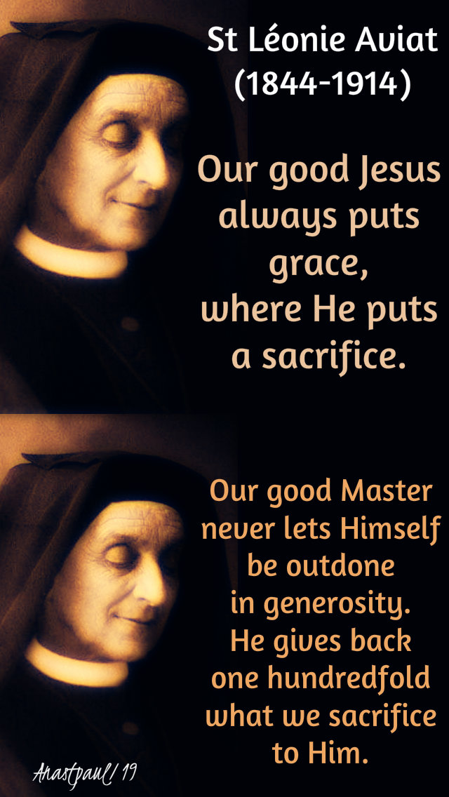 our good Jesus, our good master - st leonie aviat - 10 jan 2019.jpg