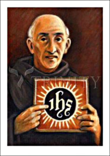 st bernardine and the IHS monogram