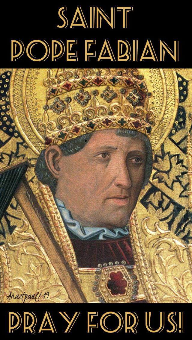 st pope fabian pray for us 20 jan 2019