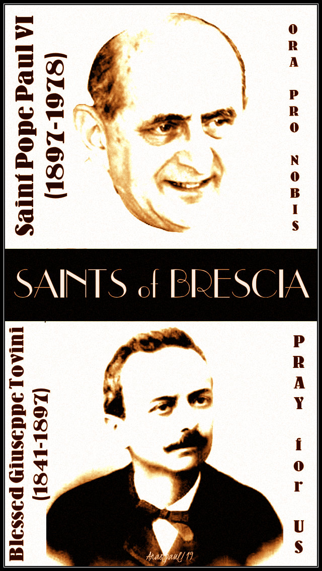 st pope paul VI and bl giuseppe tovini saints of brescia - 16 jan 2019.jpg