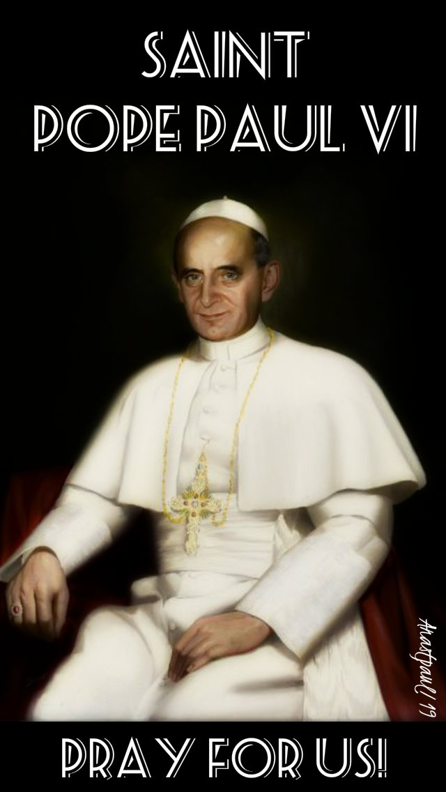 st pope paul vi pray for us 16 jan 2019