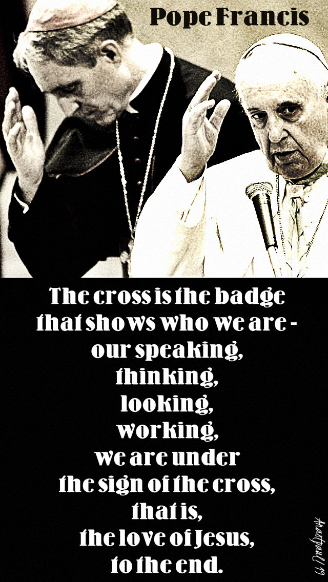 the cross is the badge - pope francis 17 jan 2019.jpg