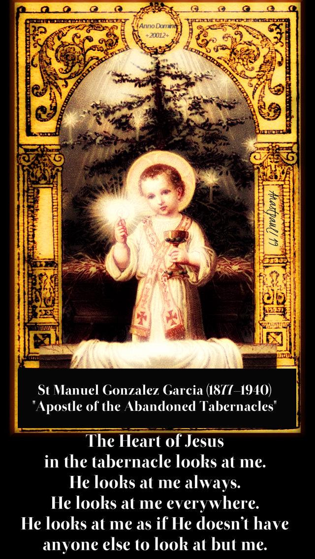 the heart of jesus in the tabernacle - st manuel gonzxalez garcia - 4 jan 2019