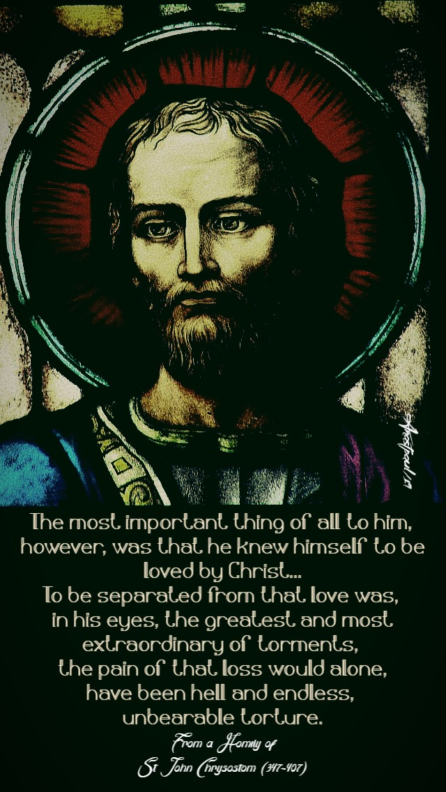 the most important thing of all to him - st john chrysostom on st paul 25 jan 2019.jpg